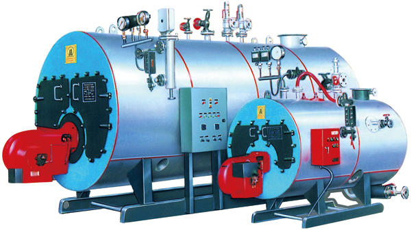 Oil Fired / Gas Fired Steam Boiler , Industrial Steam Generators High Efficiency