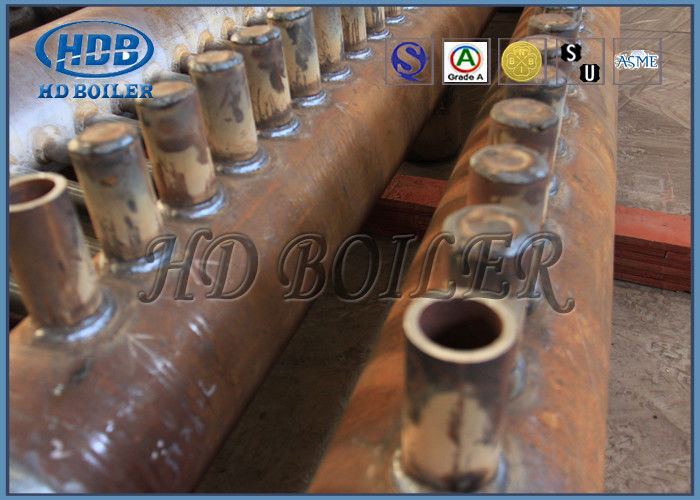 ASME Certification Boiler Manifold Headers , Carbon Steel Boiler Fired Boiler Parts For Power Plant