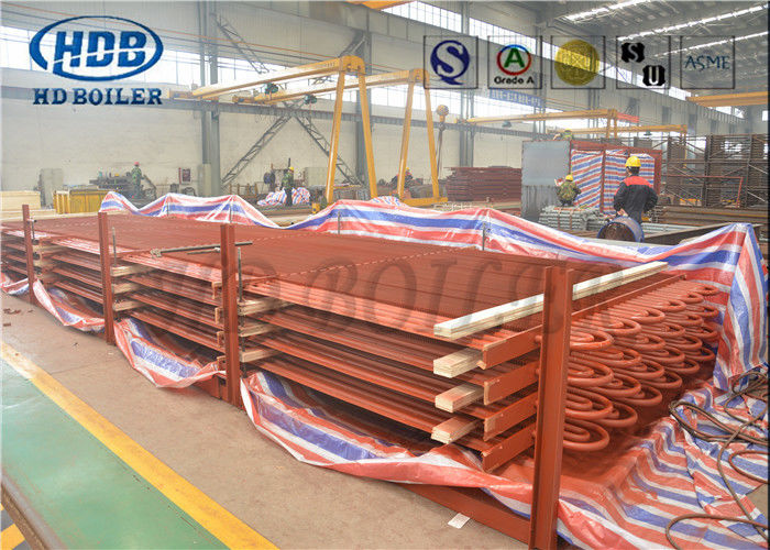 Waste Heat Boiler Steel Tube Air Heat Exchanger , HH Double H Fin Tube Economizer