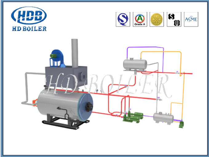 Alloy Painted ISO9001 HRSG Heat Recovery Steam Generator For Power Station