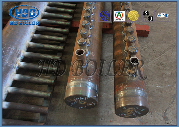 Power Station Boiler Manifold Headers , Stainless Steel Boiler Parts