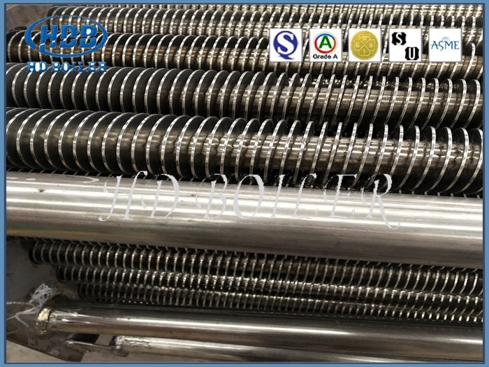 Customized Carbon / Stainless Steel Boiler Fin Tube For Power Station , Superheater And Reheater