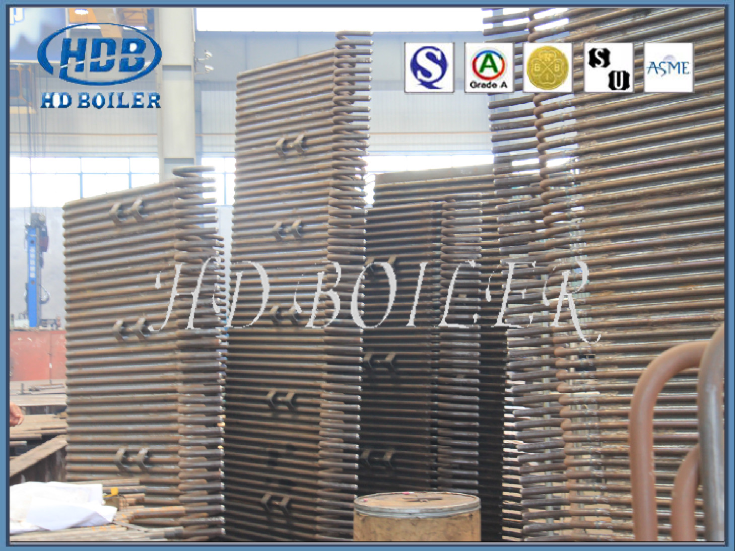 Stainless Steel Membrane Water Wall In Boiler Tube Furnace Panel Recovery Part