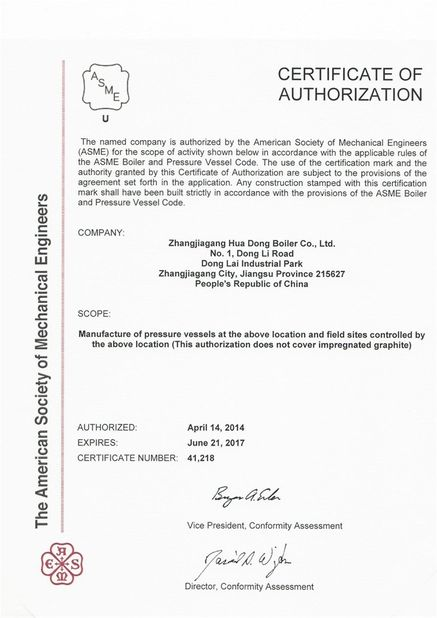Quality Control - Zhangjiagang HuaDong Boiler Co., Ltd.